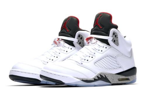 Jordan 5 Cement Sneaker Match tees