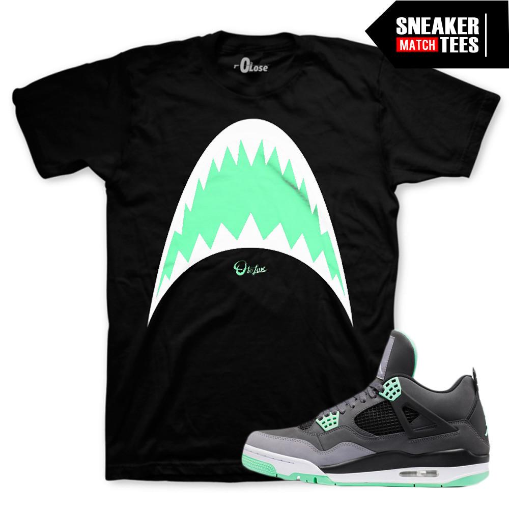 Green-Glow-4s-Shark-Tee