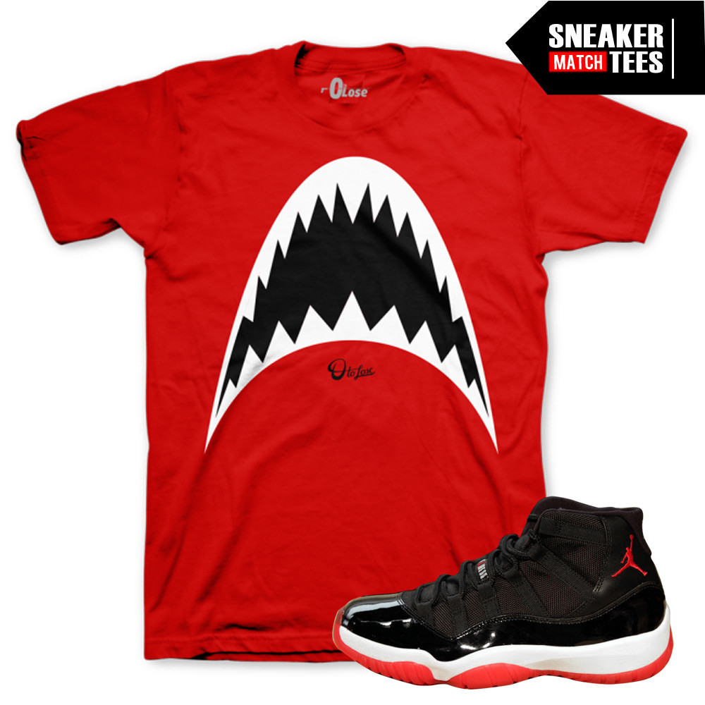 Jordan-11-Bred-Sneaker-Tees-0-to-lose-Shark-Tee