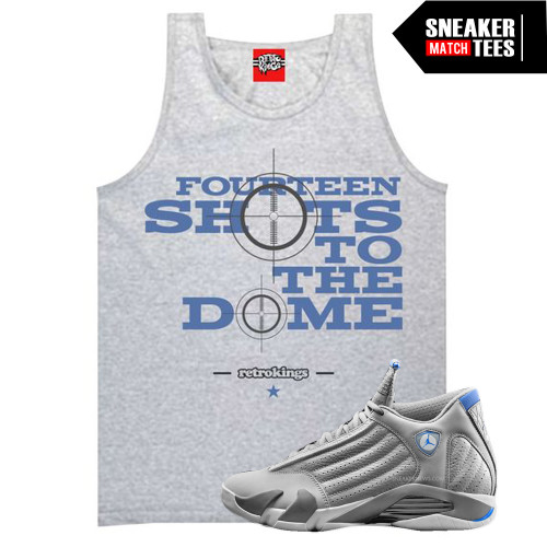 Shots to the Dome Tank (Sport Blue 14s)