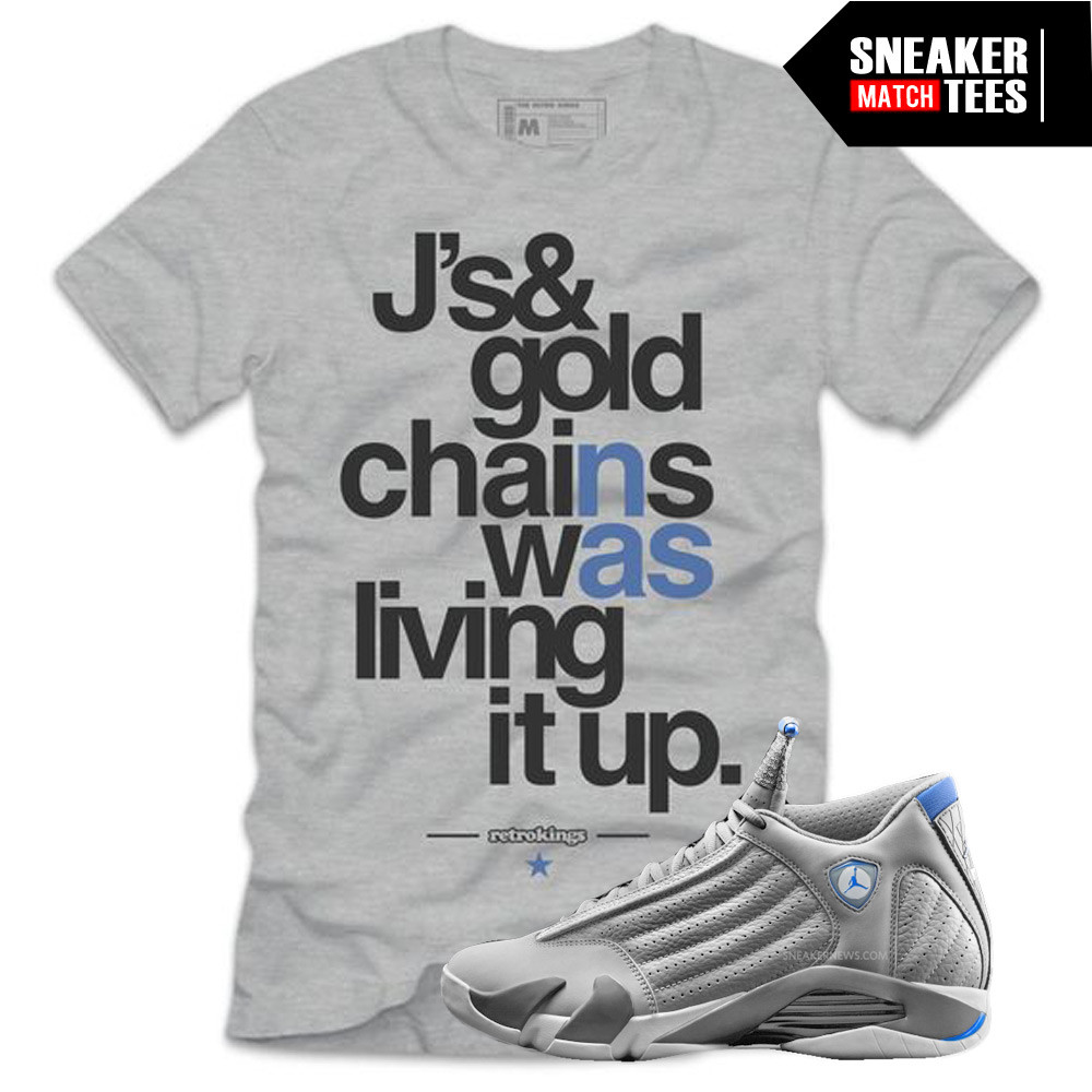Sport-Blue-14s-Sneaker-Tees-Retro-Kings-Jays-and-Gold-Chains