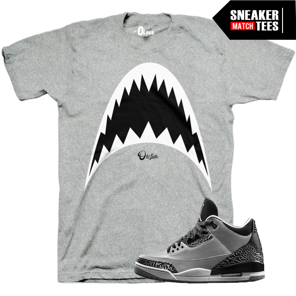 Wolf-Grey-3s-Sneaker-Tees-0-to-lose-Shark-tee