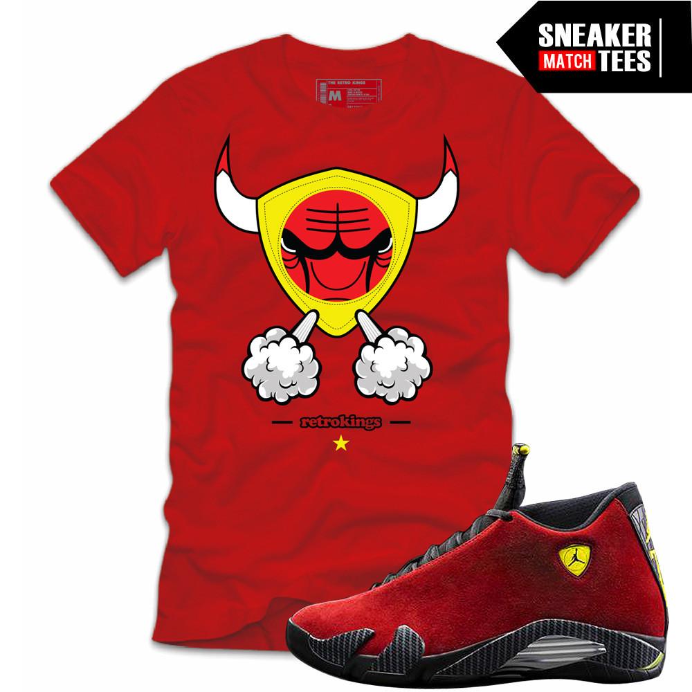Jordan-Retros-Matching-T-shirt-Ferrari-14s