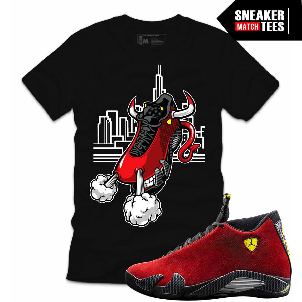 Retro-Jordan-matching-tshirts-Ferrari-14s
