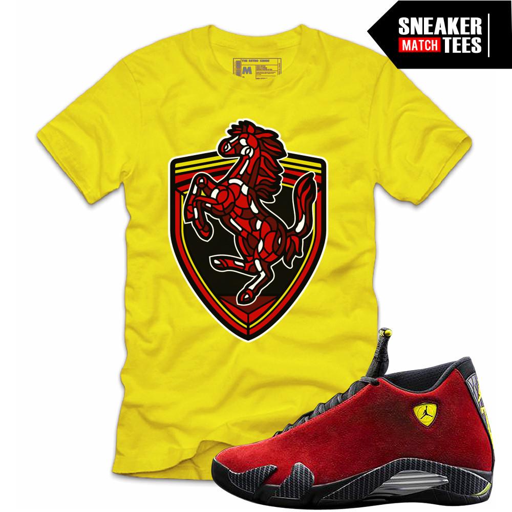 tee-shirts-to-match-Retro-Jordans-14-Ferraris