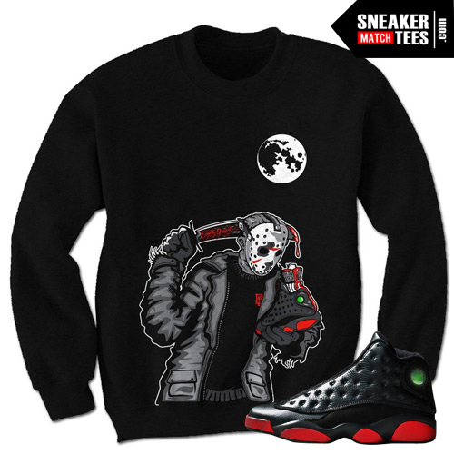 Dirty Bred 13s matching Crewneck | Friday the 13th Black ...