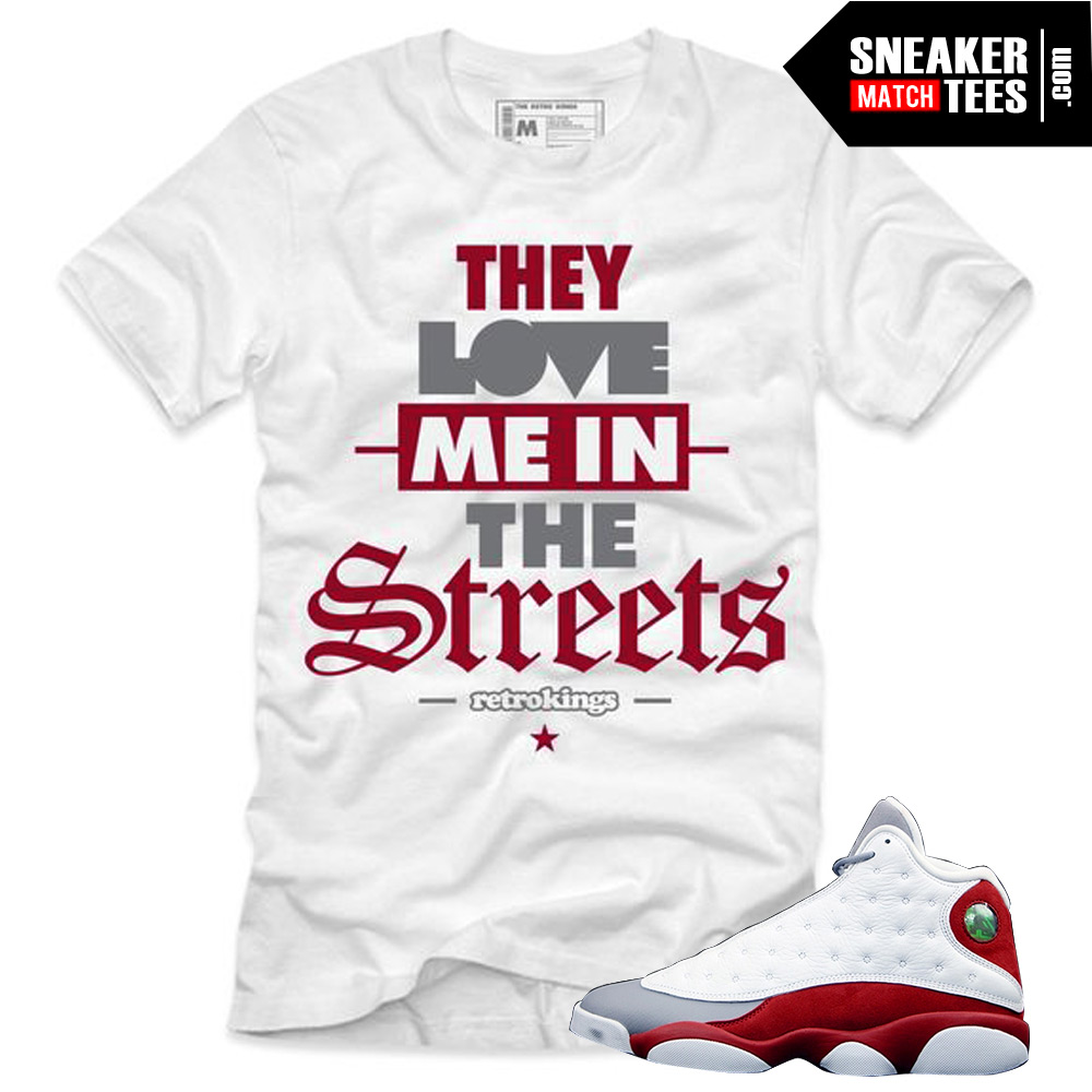 dc41f3e6b644be Grey toe 13s sneaker tees matching clothing for retro 13s grey toe