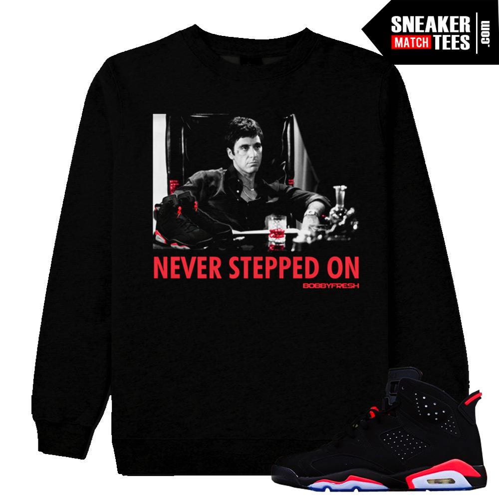 Never Stepped On Crewneck Black
