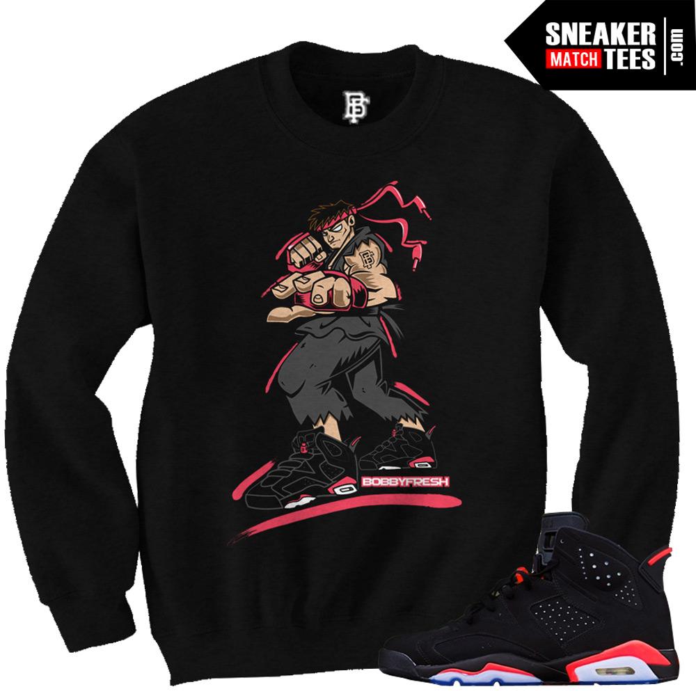 Infrared 6s Crewneck |RYU Black Sneaker Crewneck