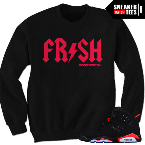 Streetwear Clothing Sneaker tees to match the Jordan Retro 6 infrared   Infrared 6s