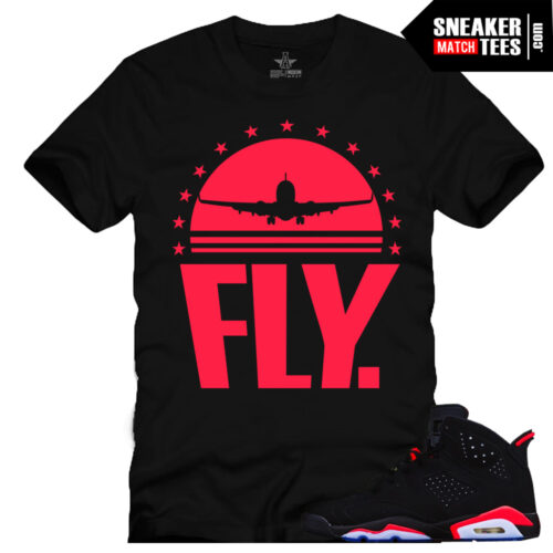 Infrared 6s Black shirts to match streetwear Clothing