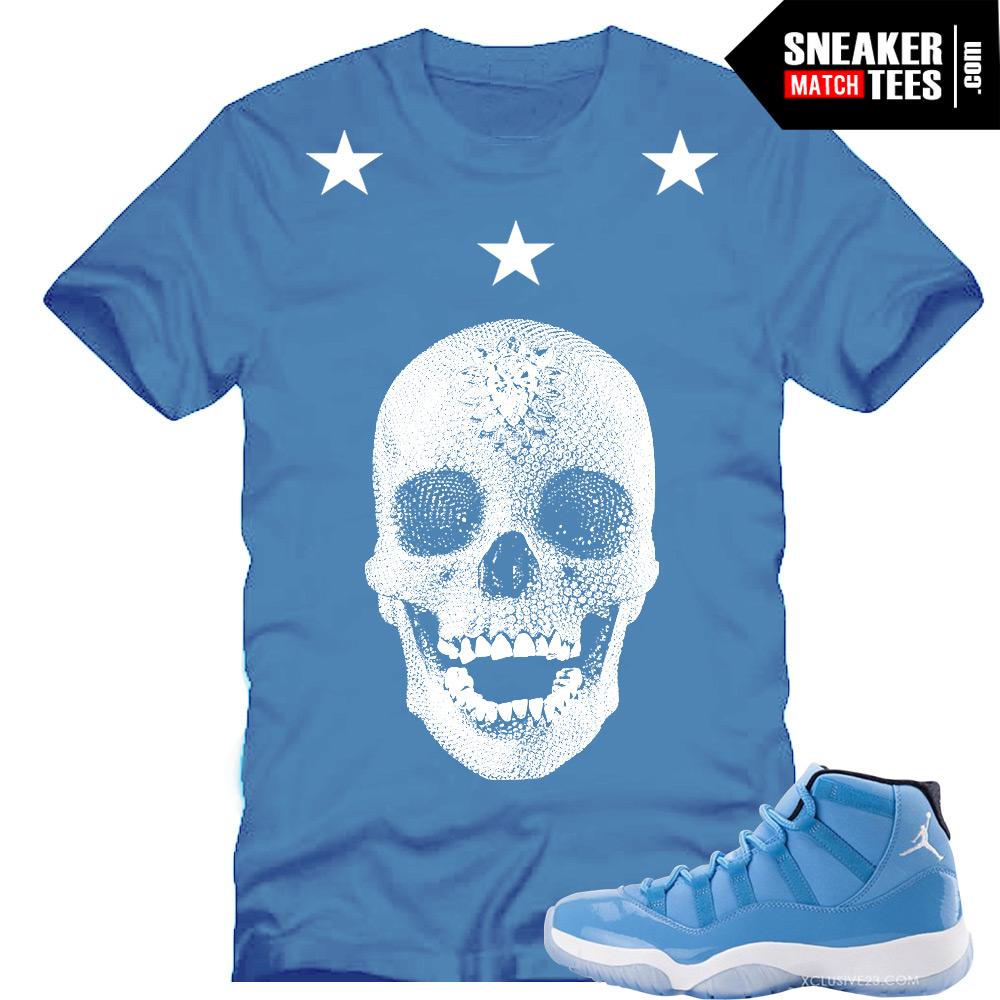 finest selection 3170a a060c Legend Blue 11s Sneaker Tee Damien Hirst Skull Sneaker Tee Blue