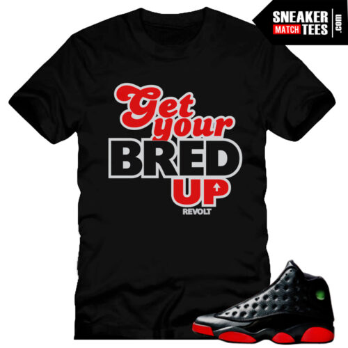 Dirty Bred 13s matching shirt from the Dirty Bred 13 sneaker tee collection