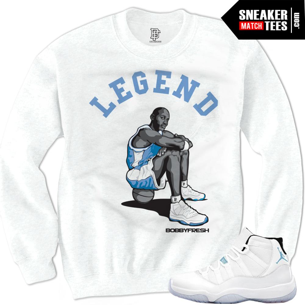 Legend Blue 11 Sneaker Tees|Legend Sneaker Tee in White ...