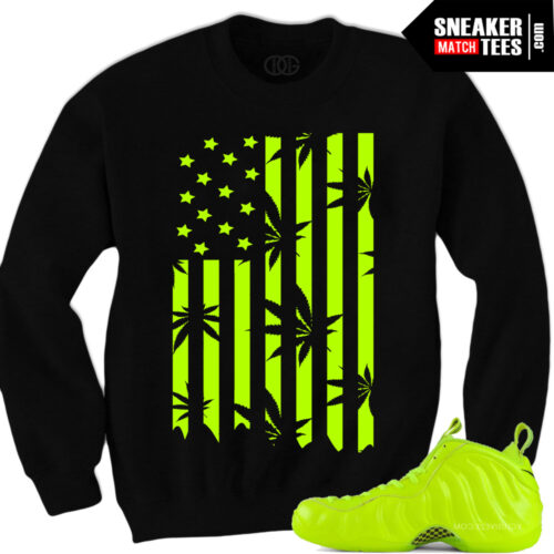 Volt Foamposite matching sneaker tees sneaker match tees sweatshirts