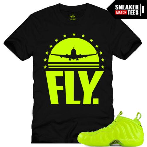 Volt Foamposite matching sneaker tees sneaker match tees