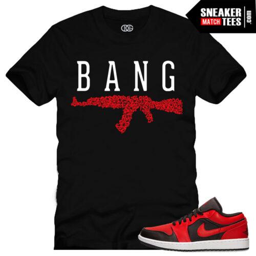 Jordan 1 OG Bred Low matching sneaker tees shirts for Jordan Retros