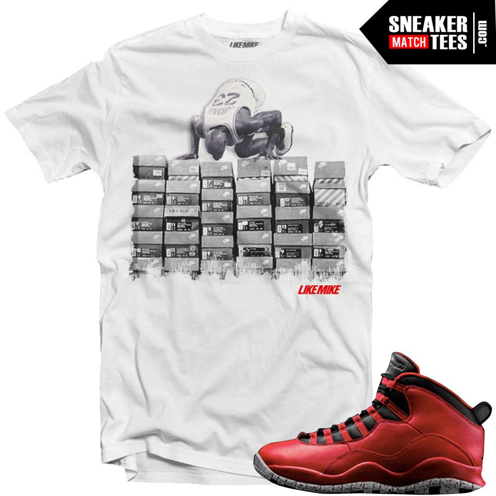 34d5bee9e6a Bulls over Broadway 10s matching sneaker tees shirts |Love Kicks sneaker Tee  White | Streetwear Online