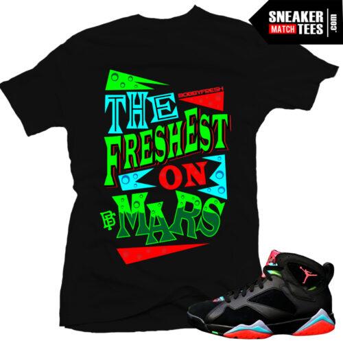 Jordan 7 shirts sneaker tees matching Marvin Martian 7s Streetwear online shopping Karmaloop