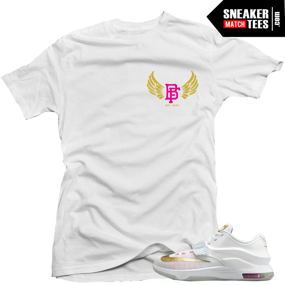 kd 7 aunt pearl matching sneaker tees shirts wingin