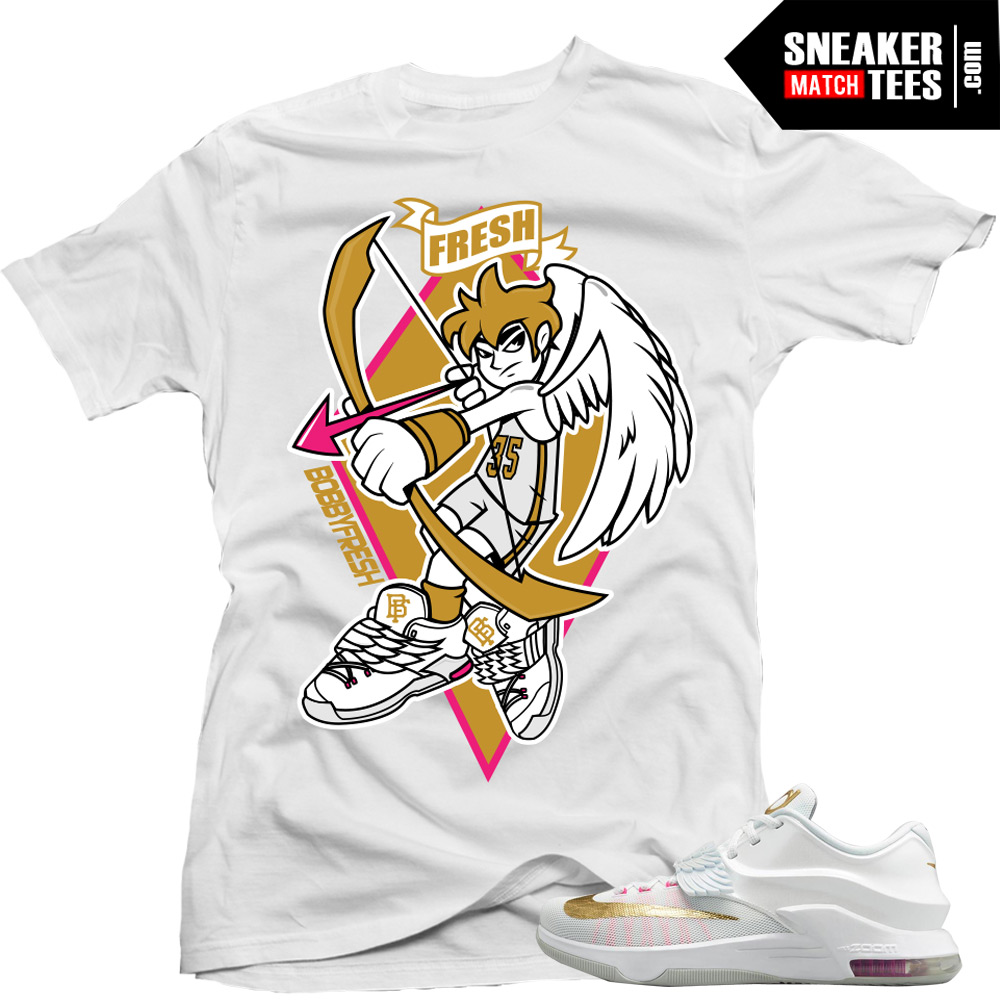 info for 019bf 4894d KD 7 Aunt Pearl matching sneaker tees shirts |Icarus sneaker Tee White |  Streetwear Online