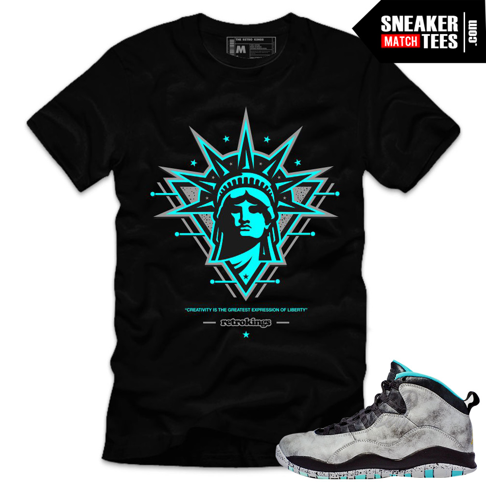 Lady Liberty 10s matching sneaker tees