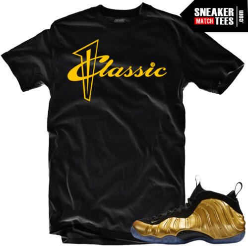 Gold Foamposite shirts streetwear online shopping