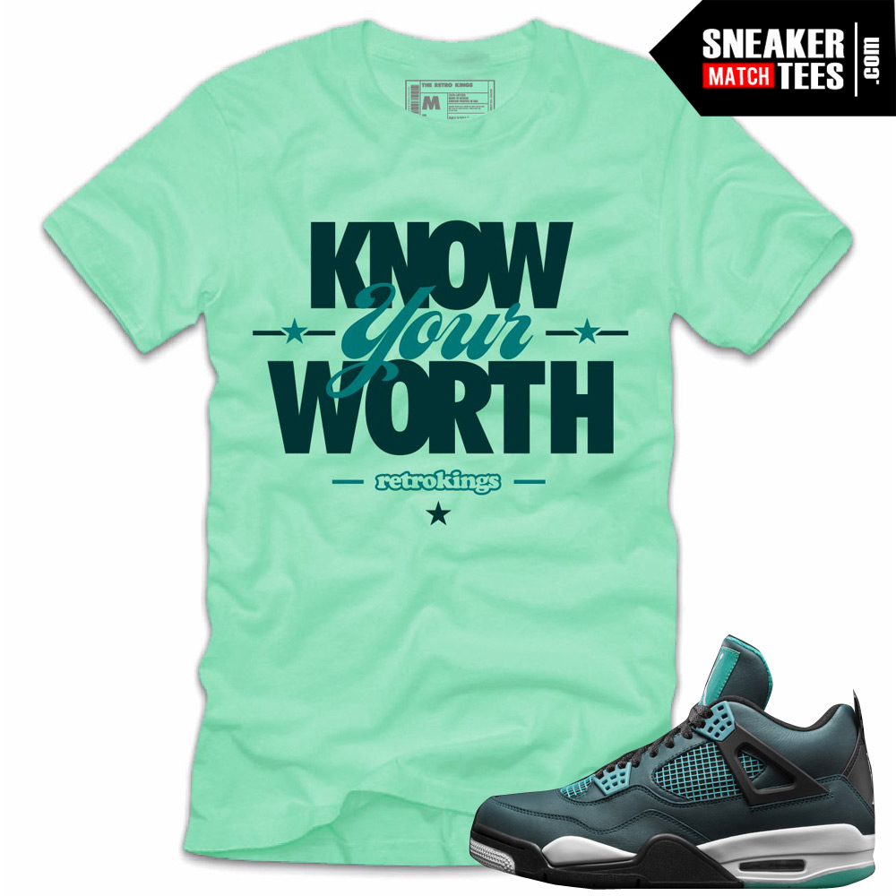 Mint Teal Sneaker Worth Match Tees 4 Shirts Jordan To Shirt YqOwpO