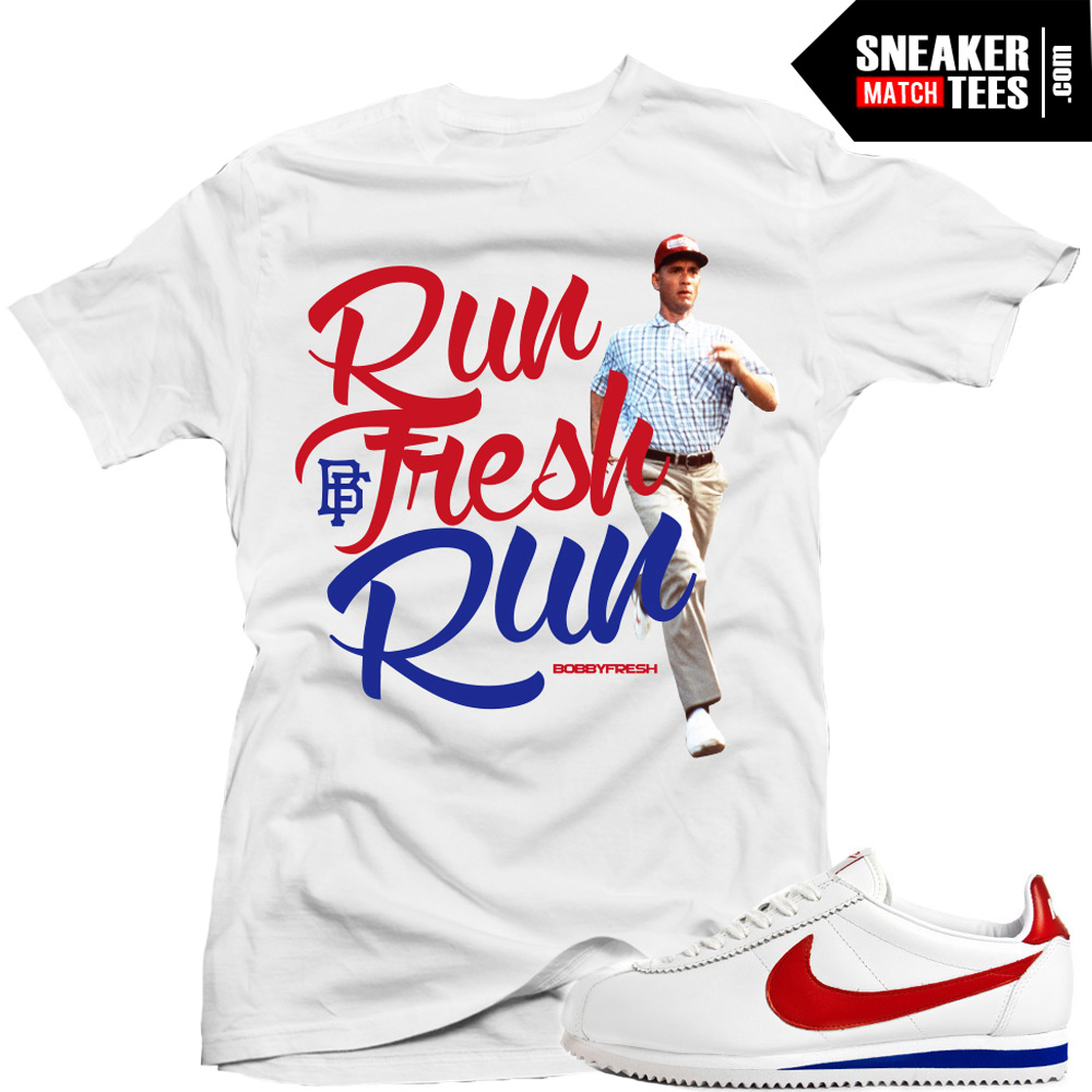 nike cortez forrest gump matching shirts run fresh sneaker tees shirt. Black Bedroom Furniture Sets. Home Design Ideas