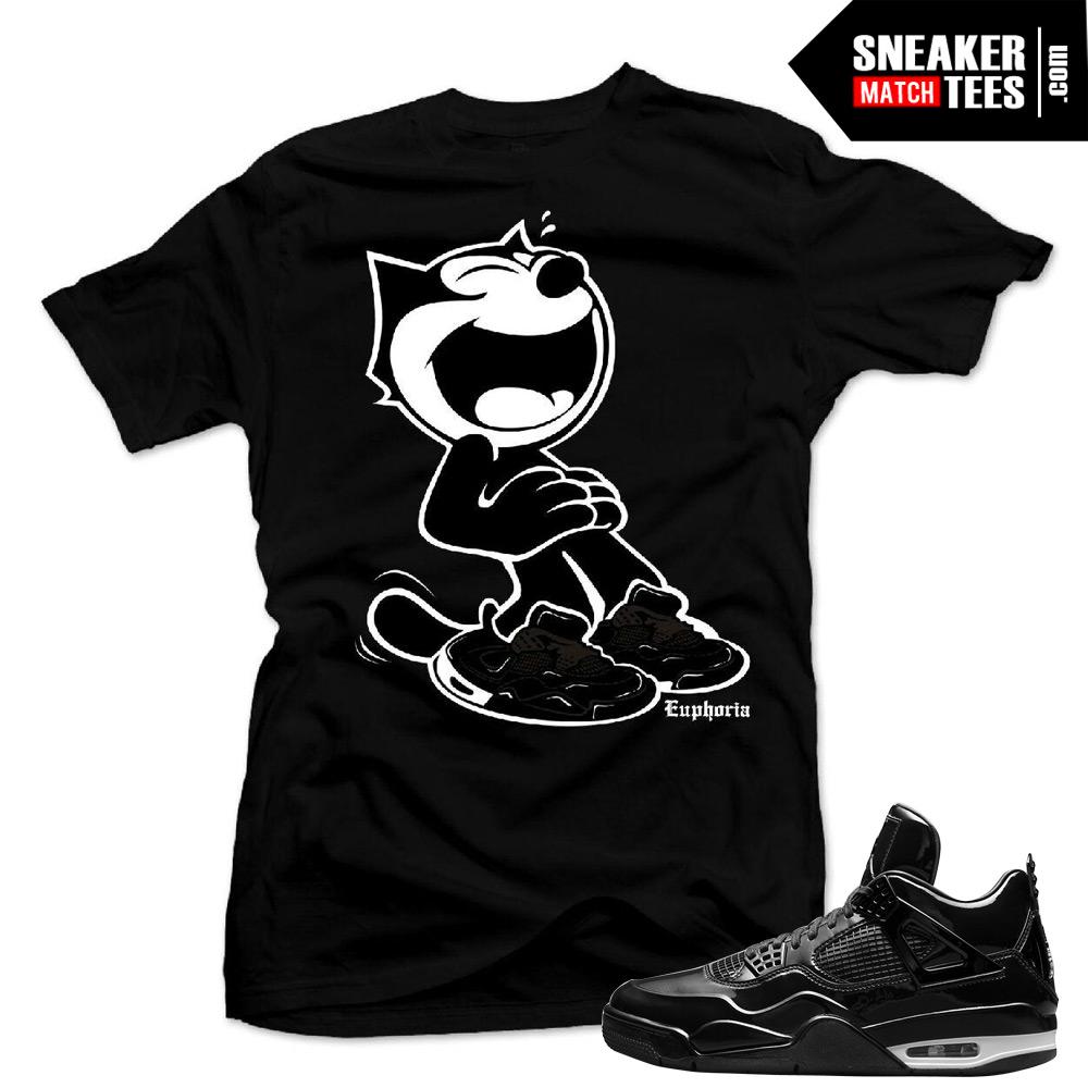 ae30995ea54 Match Jordan 6 Black Cat 6 God Black T-shirt