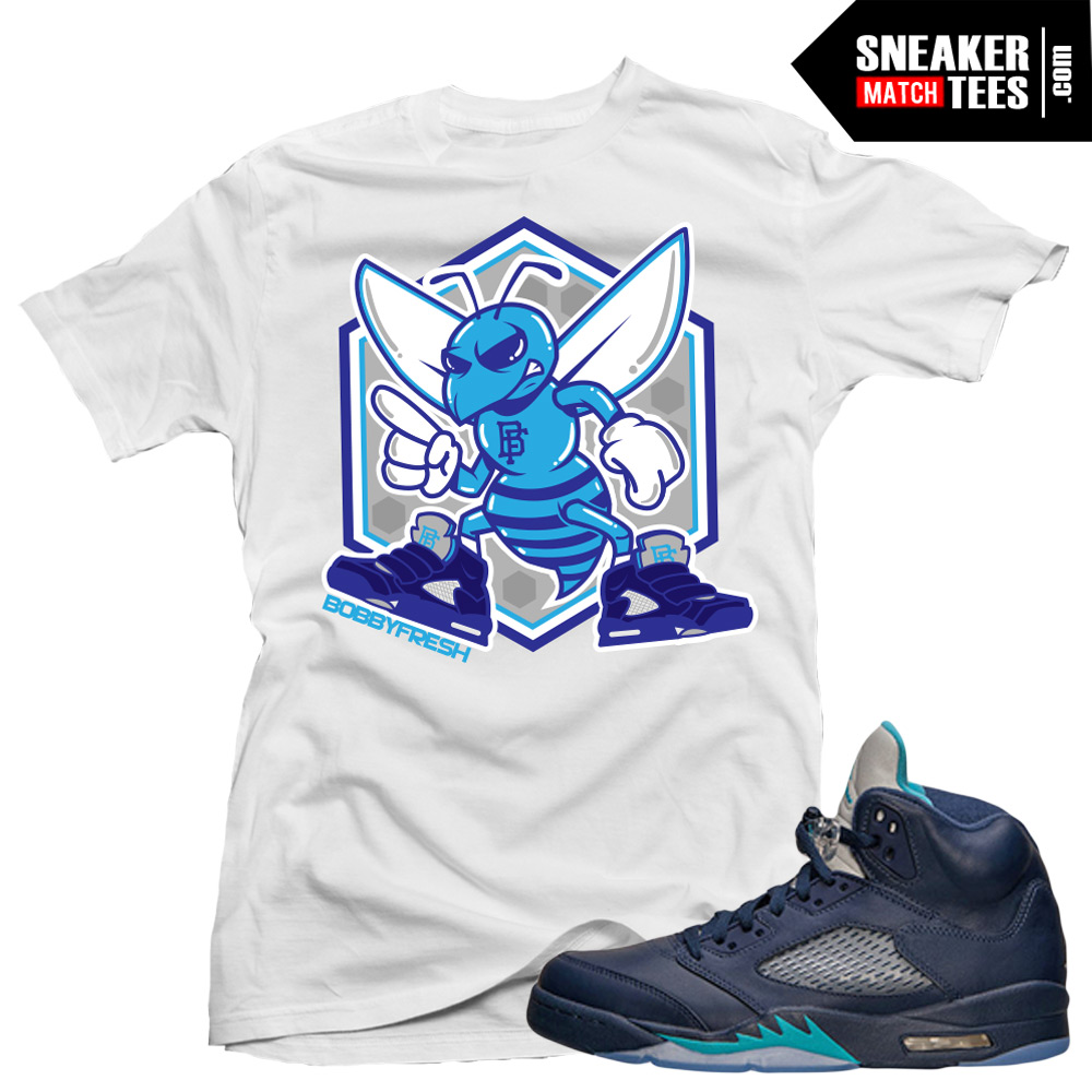 9149297fe304 Jordan 5 Hornets Midnight Navy shirts to match