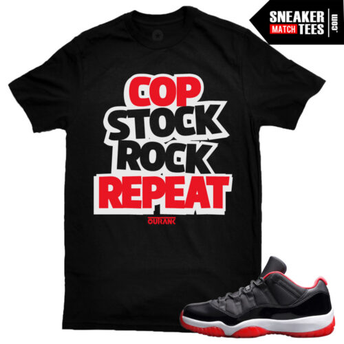 Bred 11 low jordan shirt to match sneakers