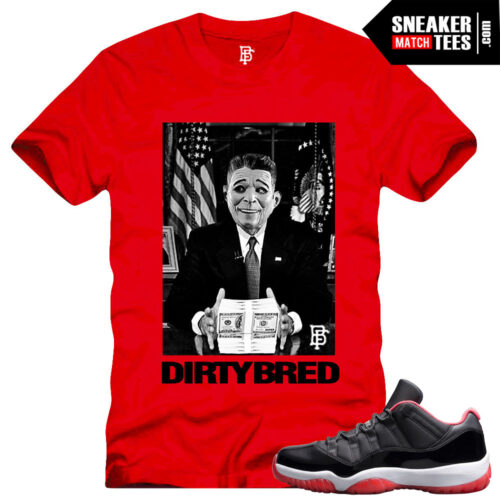 Bred 11 low matching shirt