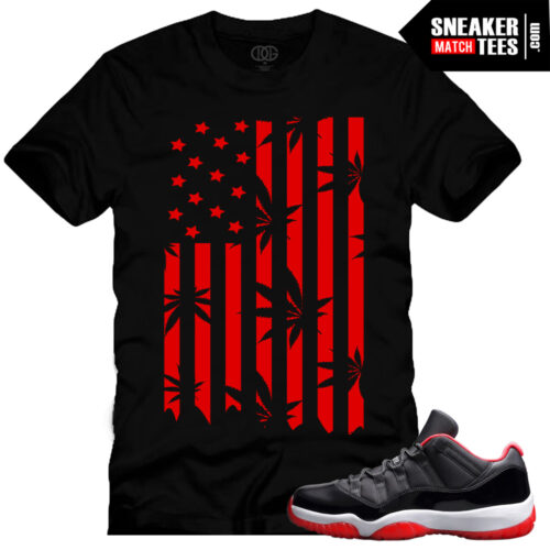 Bred 11 Low Shirt match Jordan 11 bred low