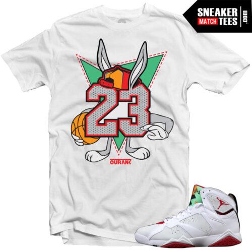 Hare 7 Jordan shirts to match