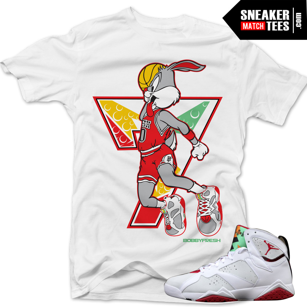 e13d99a1e72874 Jordan 7 Hare shirts to match