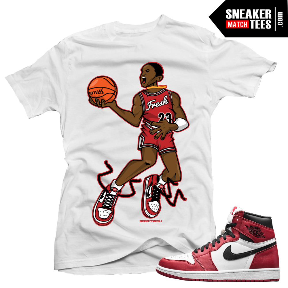 Jordan 1 chicago shirts to match mr chicago white for Jordan royal 1 shirt