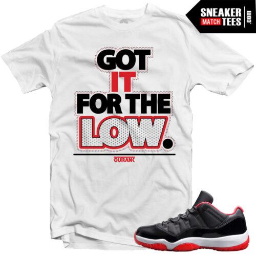 Jordan 11 bred lows shirts to match streetwear online karmaloop