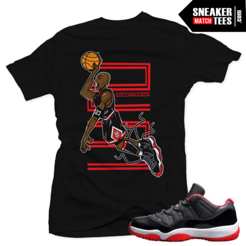 Jordan 11 bred shirt to match