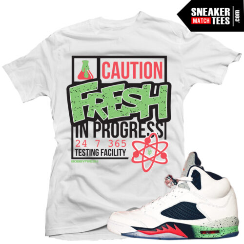 Jordan 5 Poison Green shirt online
