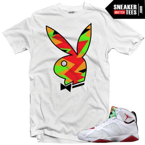 Jordan 7 shirts match Hare 7s jordans