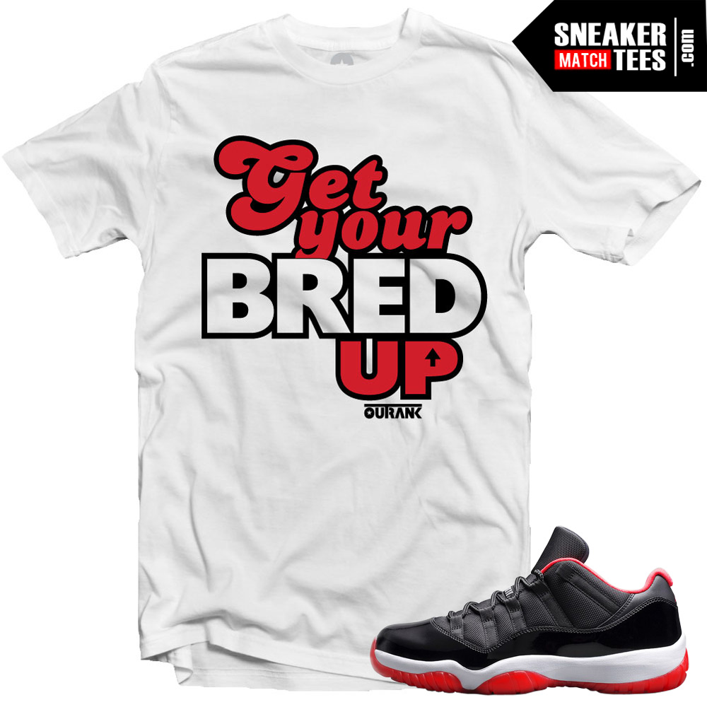 b91e13264fc748 Jordan 11 Bred Low shirt to match