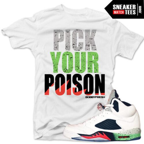Poison Green 5s shirts to match Jordan 5 Poison Green
