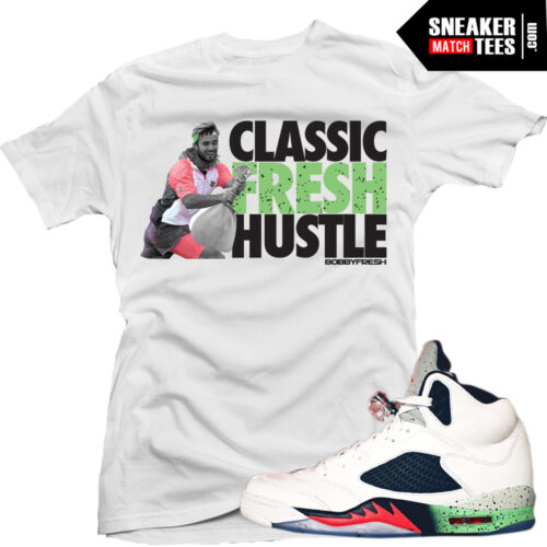 Poison Green 5s sneaker tees shirts