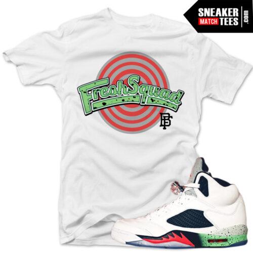 shirt match jordan 5 poison green