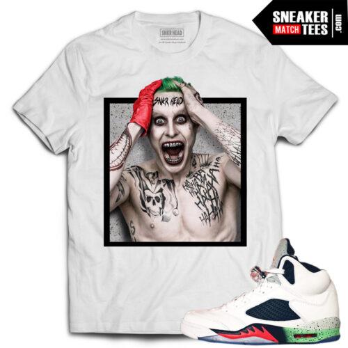 Space Jam 5 sneaker tees shirts to match Jordan 5 Space Jam