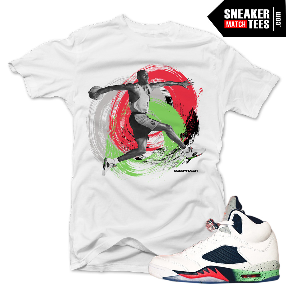 039f22be927 Jordan 5 Poison Green shirts to match