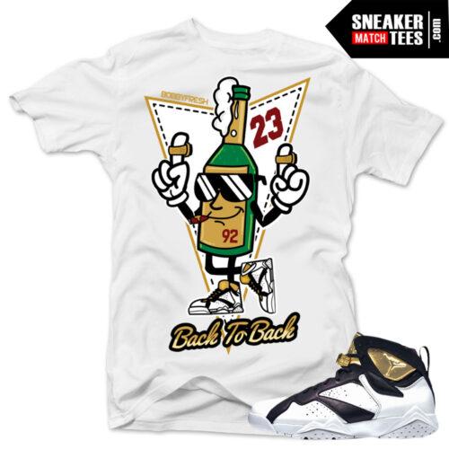 Champagne 7s Jordan shirts sneaker tees