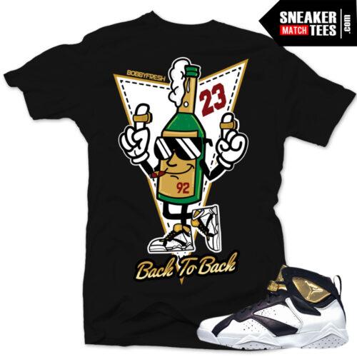 Champagne 7s shirt to match Jordan 7 Champagne