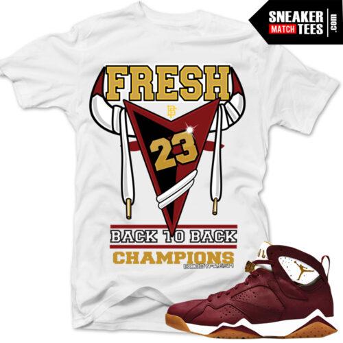 Cigar 7 matching sneaker tees shirts